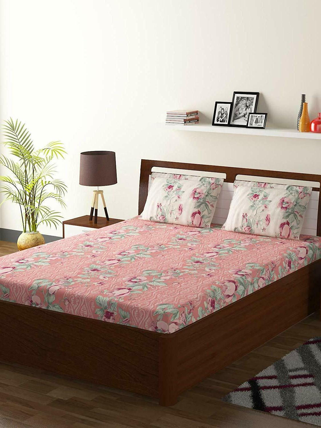 Bombay Dyeing Breeze Cotton Double Bedsheet 2 Pillow Covers