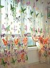 Butterfly Print Sheer Window Panel Curtains Living Room Divi