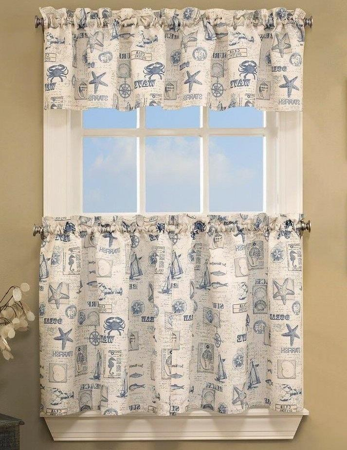 by the sea kitchen curtains brand new