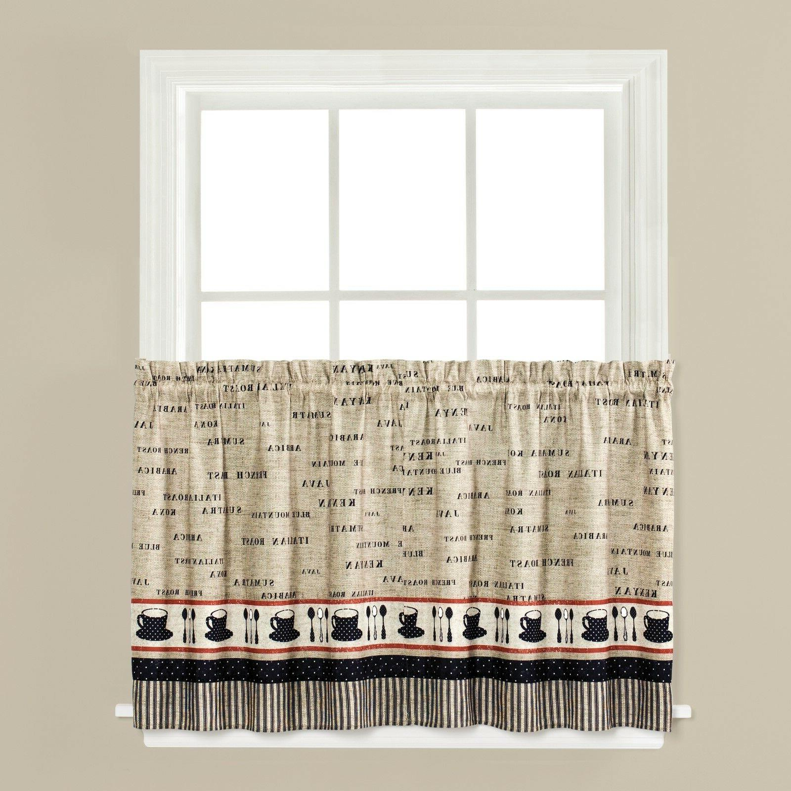 Cafe Coffee Kitchen Curtain