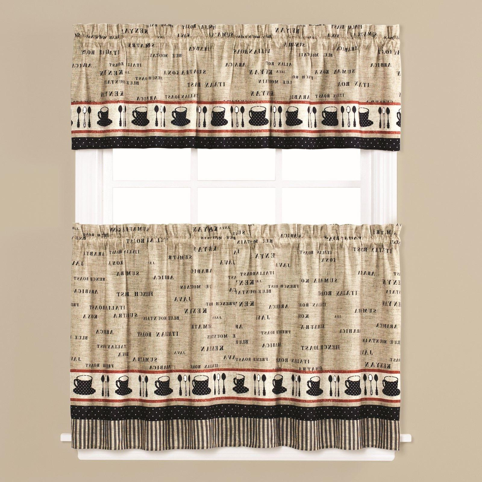 cafe coffee themed kitchen curtain collection new
