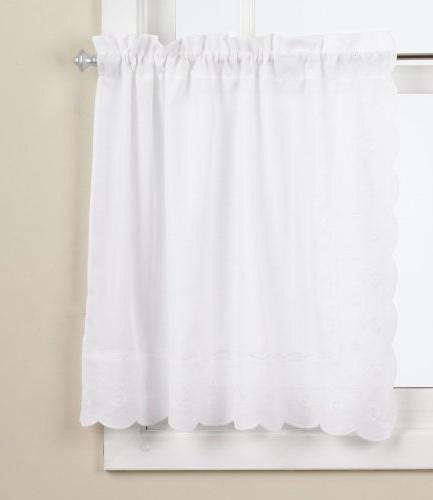 LORRAINE HOME FASHIONS Candlewick Tier Curtain, 60 by 36-Inc