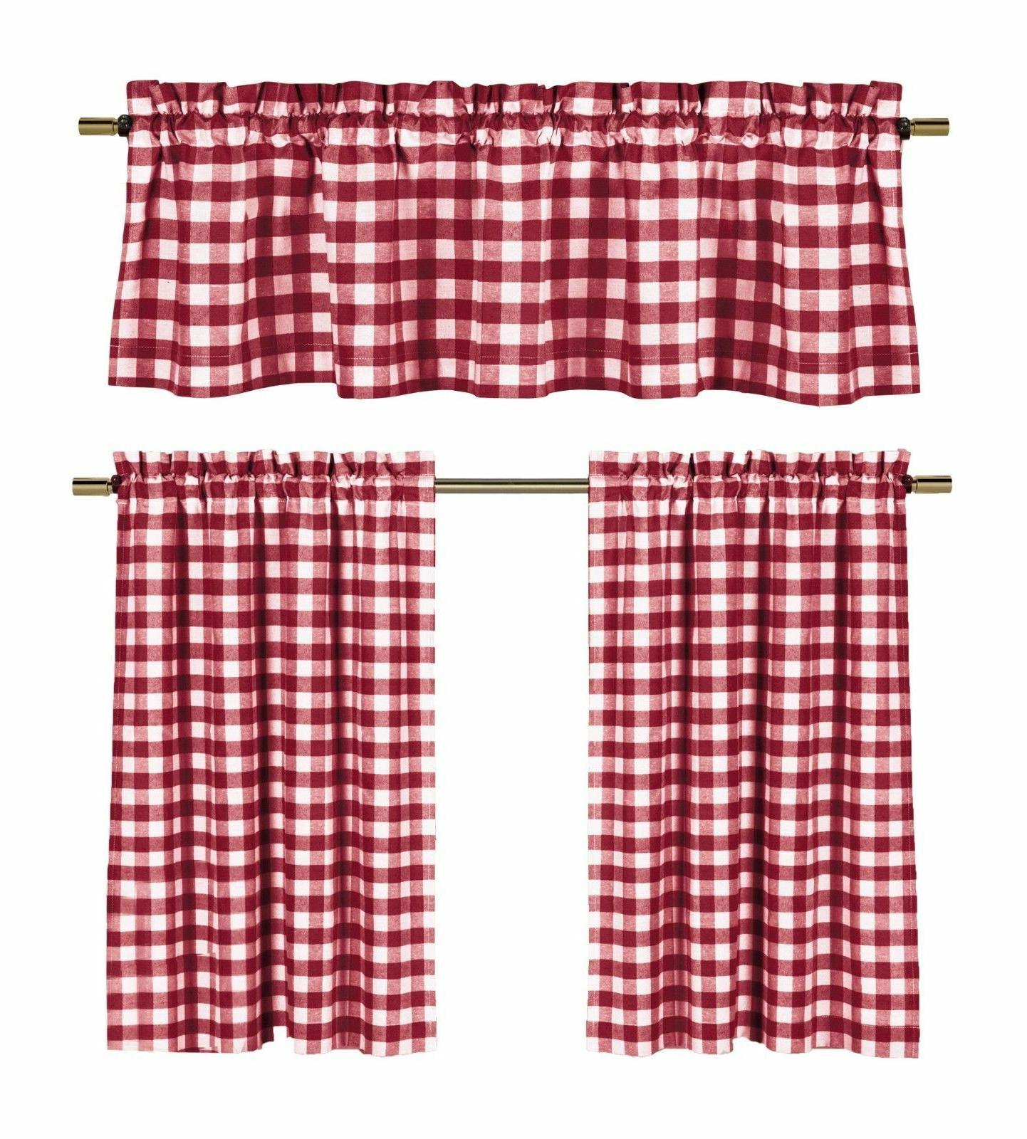 candy apple red and white country checkered