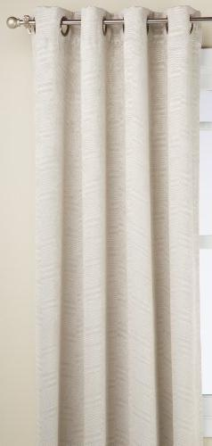 Regal Home Chevron Grommet Window Panel, 50 by 84-Inch, Beig
