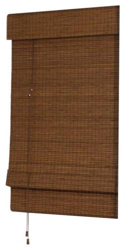 Radiance Cape Cod Bamboo Roman Shade with Valance, 39 inches