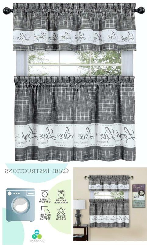 country gingham check live laugh love 3