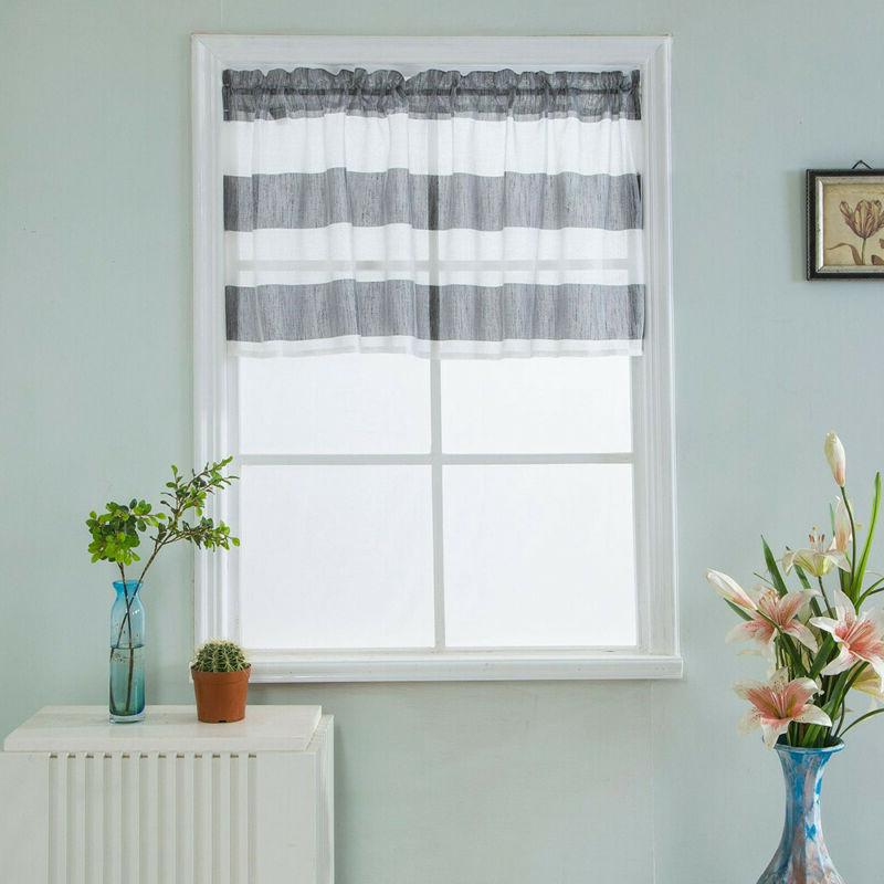 Valance Curtains Extra Wide and Short Window Treatment Kitch