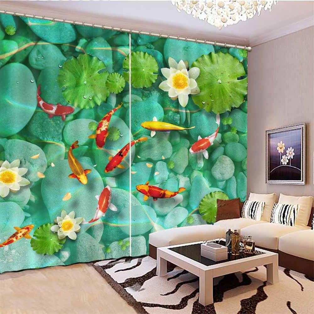 customize fish <font><b>insulated</b></font> blackout Living room kids room