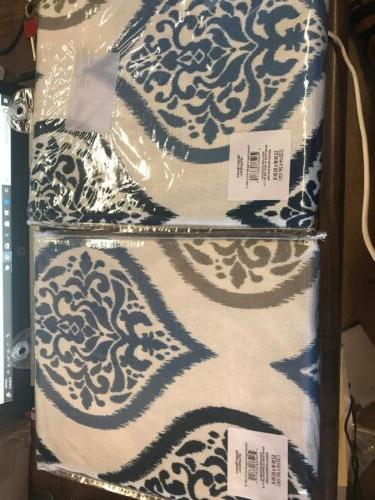 damask ogee curtain panel