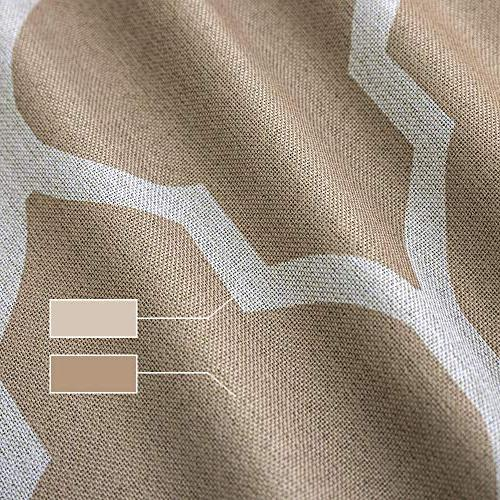 Dark Curtains Panel Long Living Kitchen Linen Textured Thermal Insulated Window Drapes Grommet Top on Flax