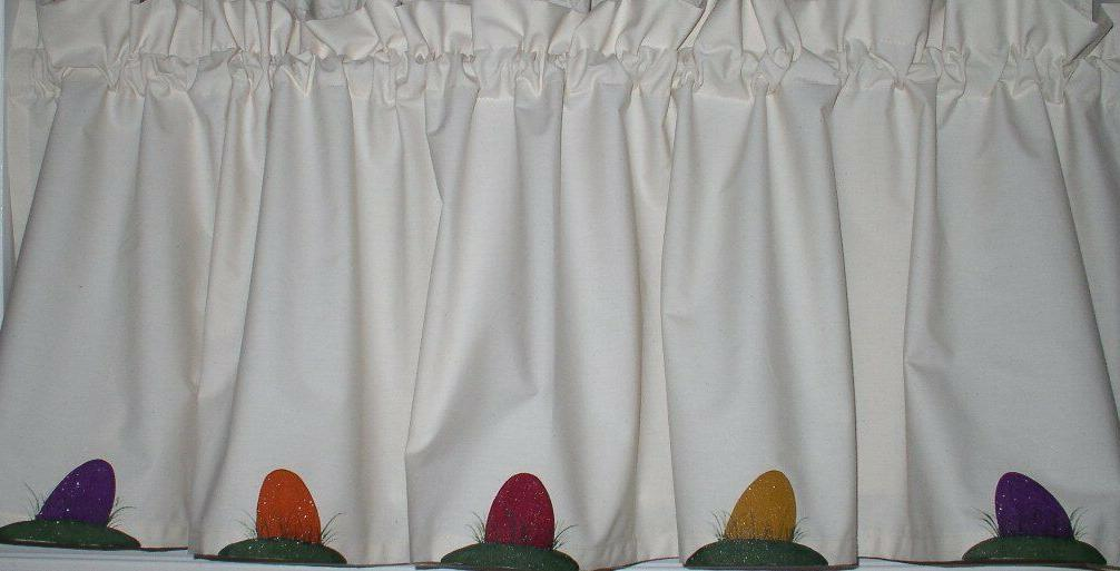 easter eggs on muslin valances tiers primitive