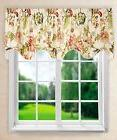"Ellis Curtain Brissac Lined Scallop Valance, 70 x 17"", Red"
