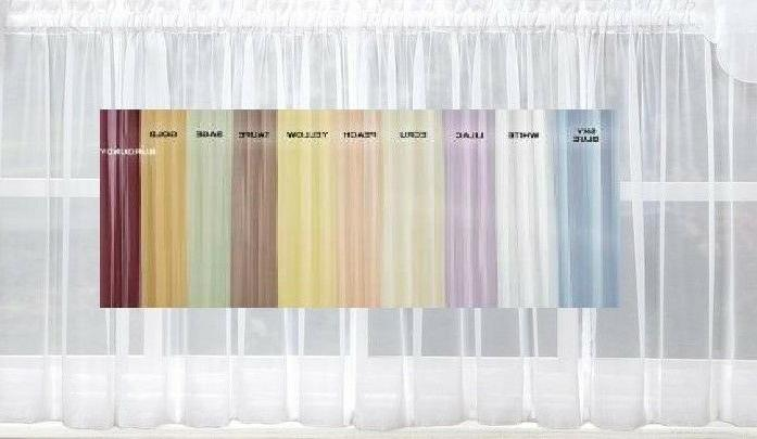 emelia sheer voile kitchen curtain 11 colors