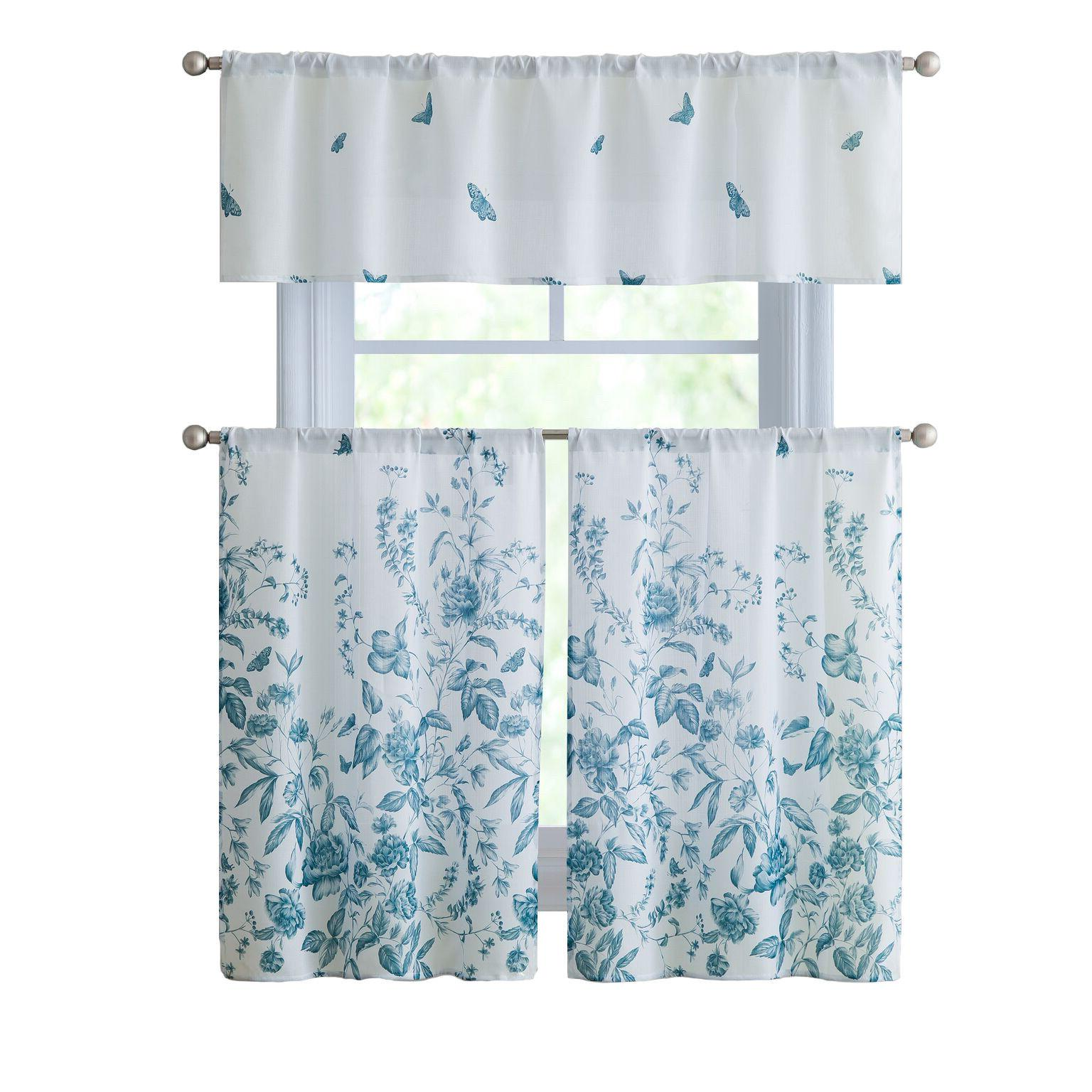 VCNY Home Kitchen Valance Assorted Colors