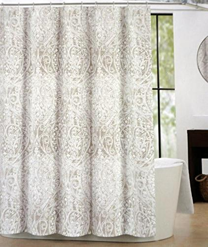 fabric shower curtain taupe beige
