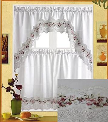 Fancy Collection Embroidery Floral and Valance