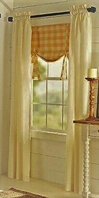 Farmhouse 100% Cotton Ivory Natural Muslin 36 Inch Cafe Curt
