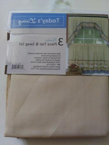 Fat Chef Tiers & Swag Valance Curtains