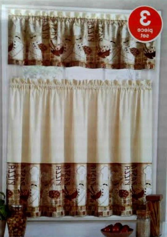 fat italian chef bistro tiers and valance