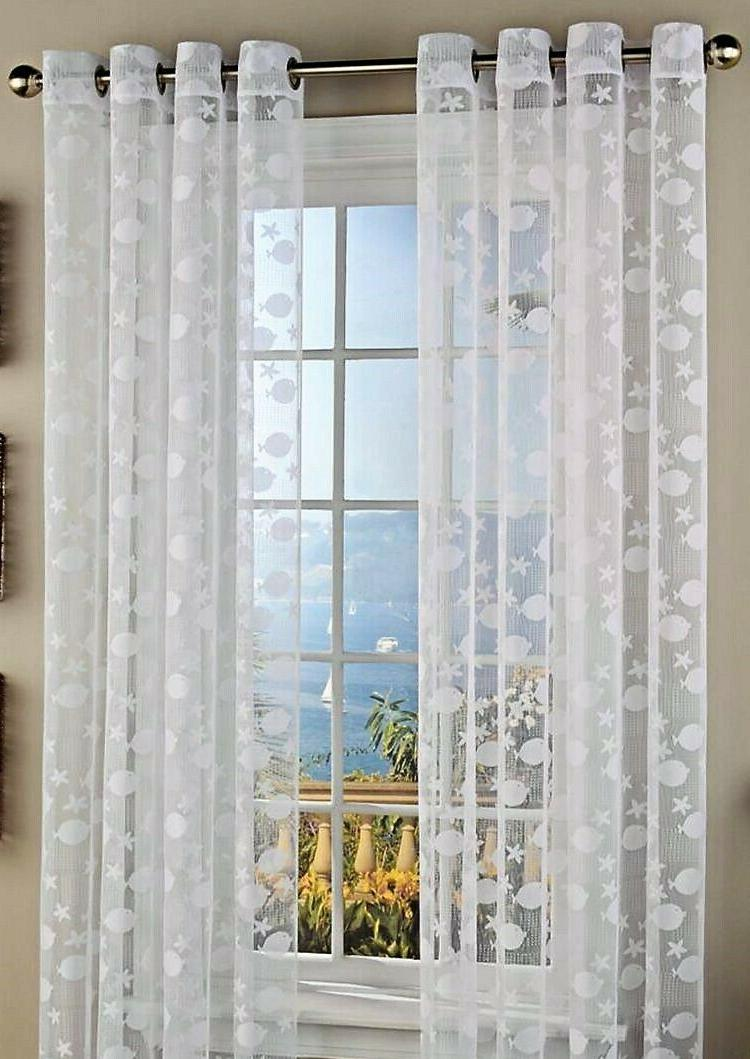 By The Sea Nautical Fabric Shower Curtain by Lorraine NEW