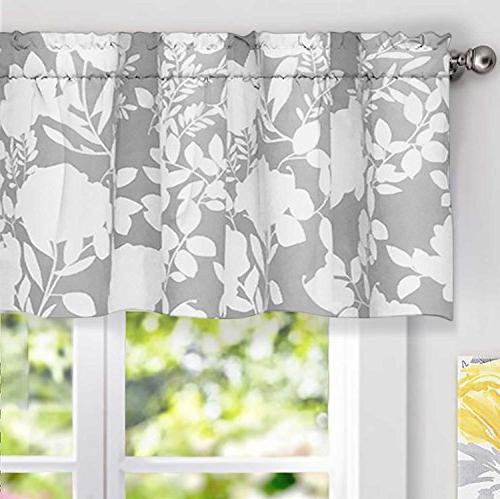 DriftAway Floral Delight Botanic Pattern Window Curtain Vala