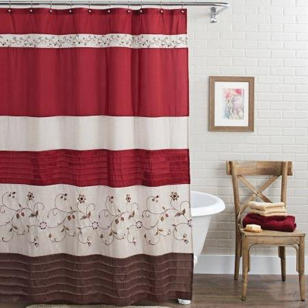 floral embroidered shower curtain