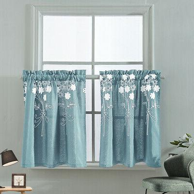 Embroidery Curtain Cafe Curtains Bedroom Bathroom Window