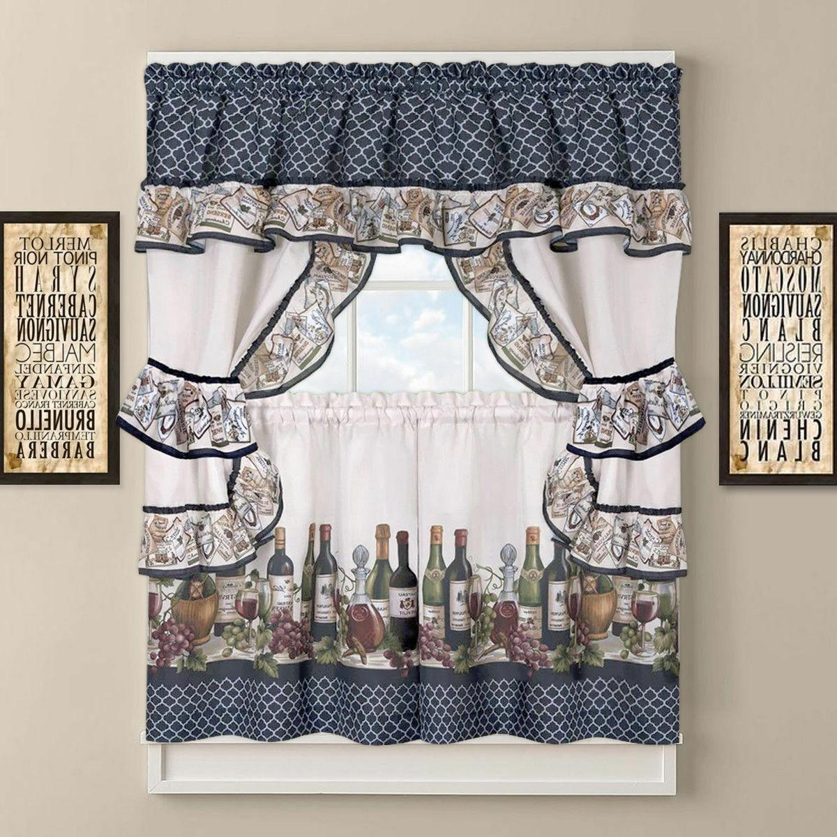 french chateau complete cottage kitchen curtain set