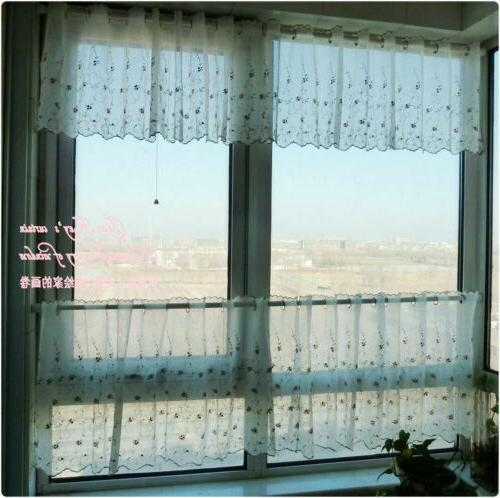 French Net Tulle Kitchen Curtain Tier