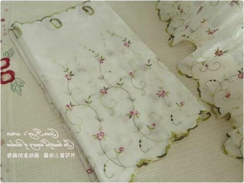 French Country Floral Net Kitchen Cafe Curtain