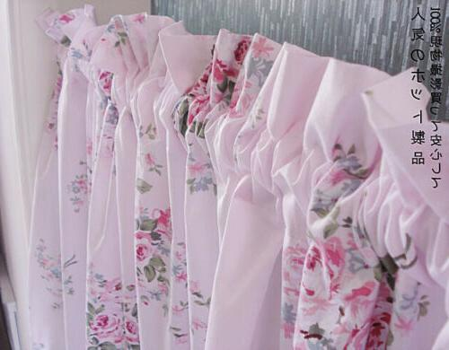 French Country Shabby Chic Floral Pink Roses