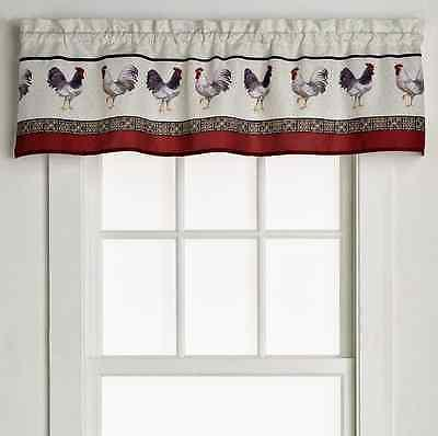 Saturday Country Rooster-Print Valance Bedding