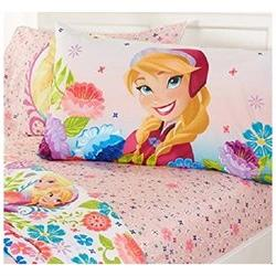 Disney Frozen Full and Twin Sheets and Comforter Set Floral