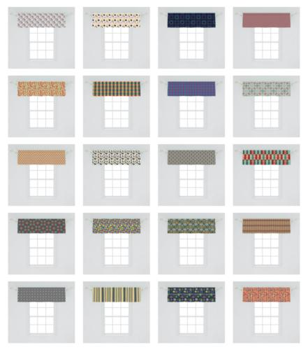 Ambesonne Geometric Valance Curtain Kitchen Bedroom in