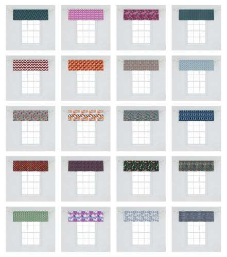Ambesonne Geometric Shape Valance Curtain for Kitchen Bedroom in Sizes