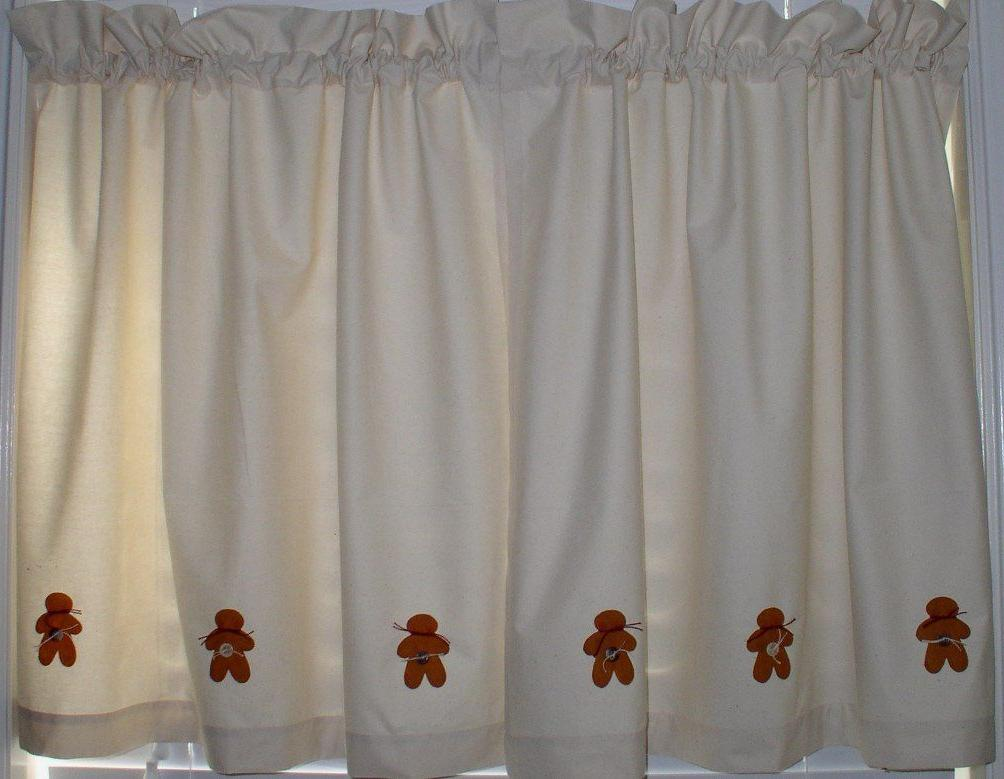 Gingerbread Muslin Valance Tiers Primitive Country Runner