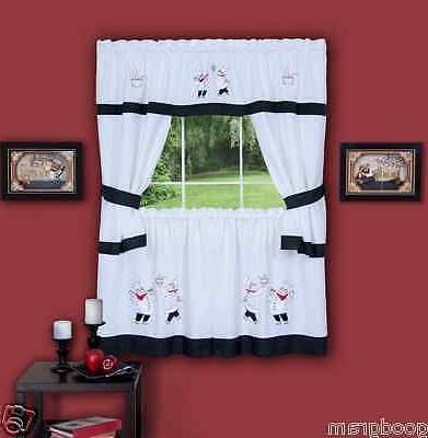 gourmet complete cottage kitchen curtain set by