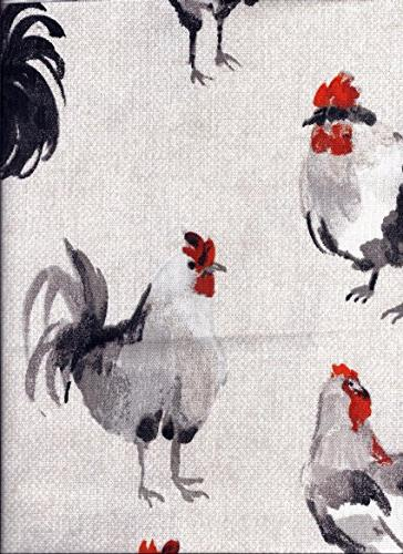 gray black roosters valance