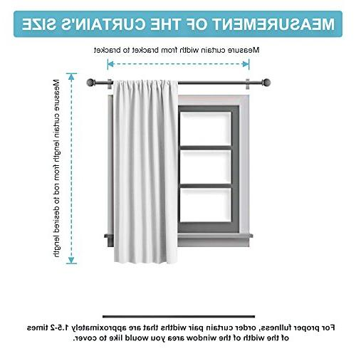 RYB Gray Blackout Curtains Insulated Reducing Pocket Slot Draperies Decoration for