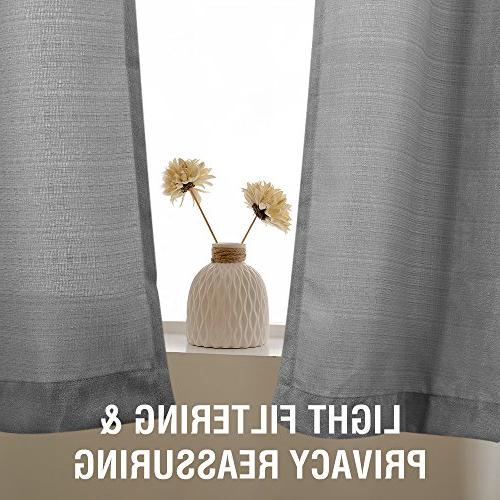 Grey Tiers Curtains for Curtains Privacy Window 45 Grommet
