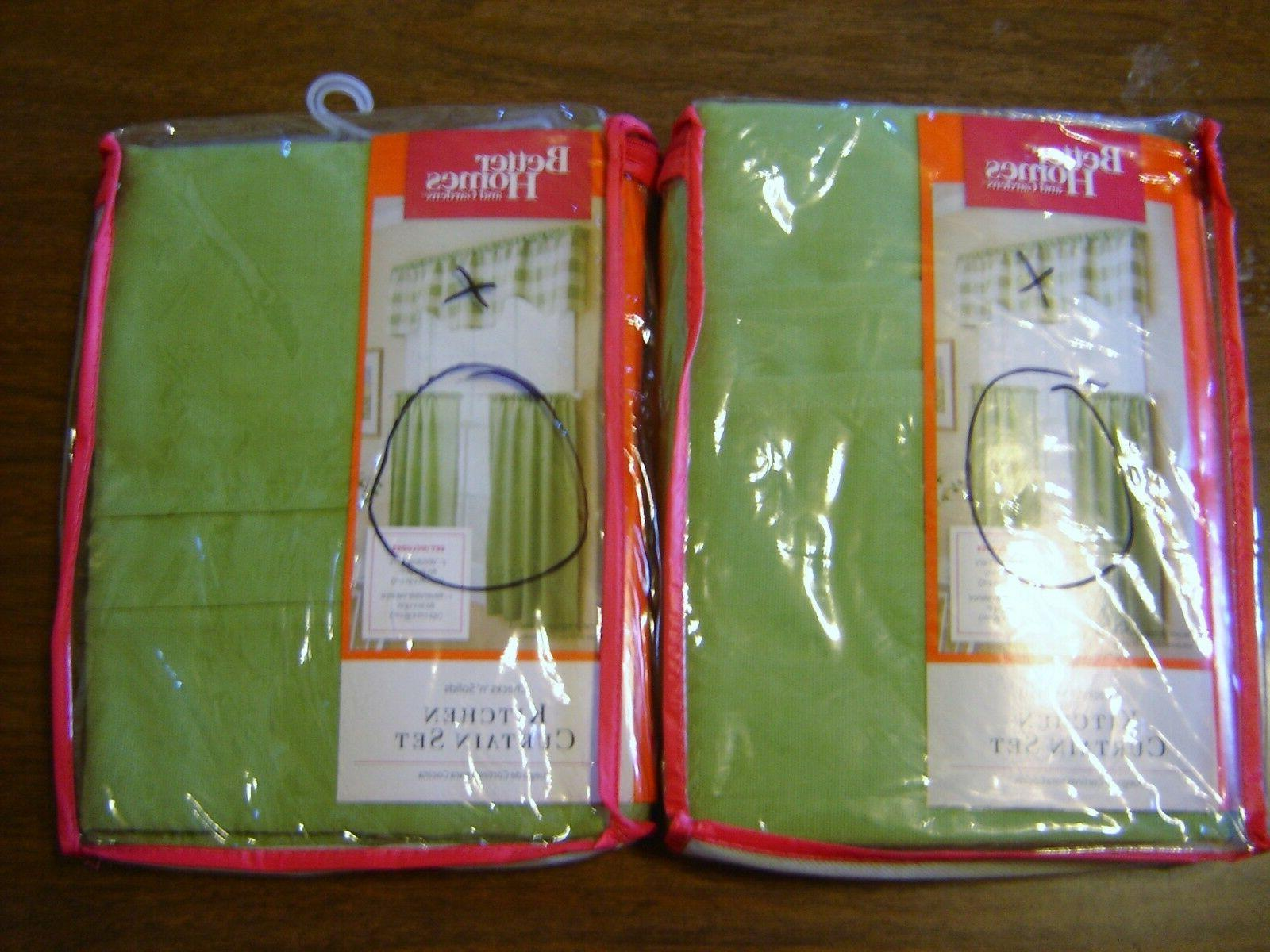 Green Curtains Tiers only 2 Sets Homes Gardens