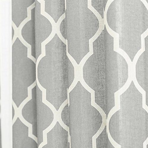 Grey Moroccan Tier for Lattice Curtains inches Long Window Curtain Sets for Bathroom