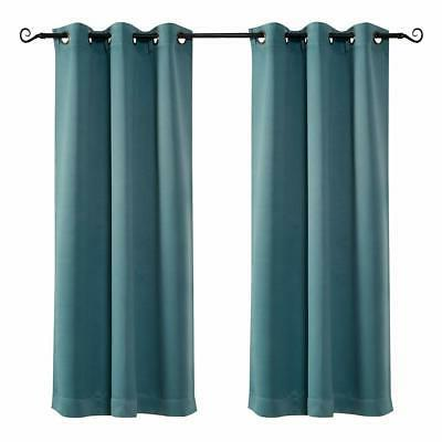 grommet top thermal insulated window blackout curtains
