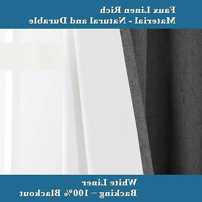 H.VERSAILTEX 100% Draperies Patio Blackout Extra