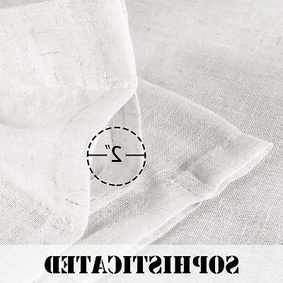 Width by Inch Linen White Curtains Light