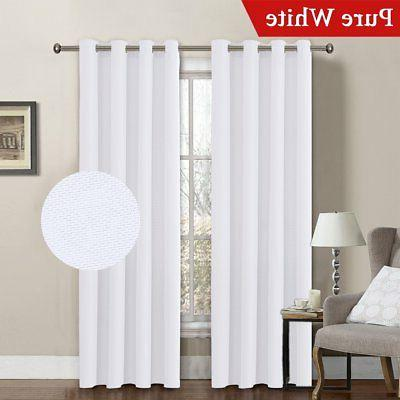 H.VERSAILTEX White Linen Curtain Reducing