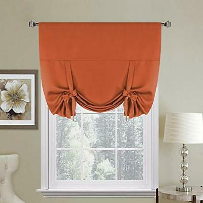 Thermal Insulated Blackout Kitchen Curtains Tie Up Window Sh