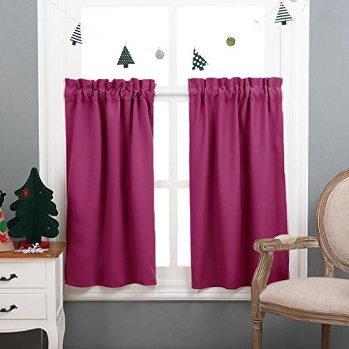 half window blackout curtains