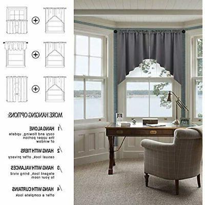Half Window Kitchen Curtains- Valance/Swags For