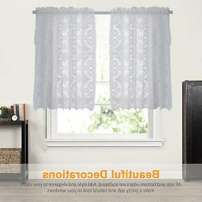 Heavy White Kitchen Curtain Choice 24 36'' Tier or